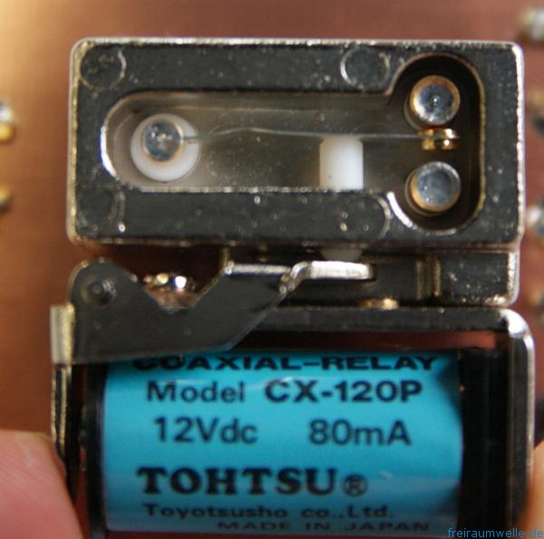 Coaxial Relais open switch